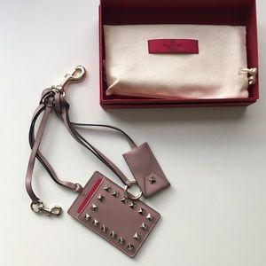 Valentino Garavani Rockstud Keychain Cardholder
